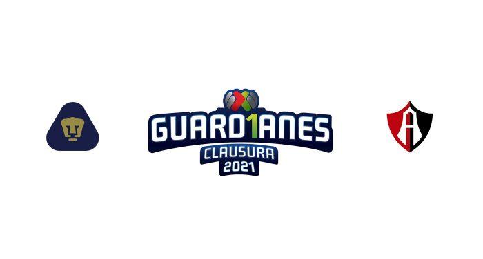 Pumas UNAM vs Atlas Previa, Predicciones y Pronóstico 29/01/2021