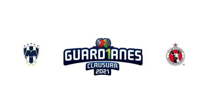 Monterrey vs Tijuana Previa, Predicciones y Pronóstico