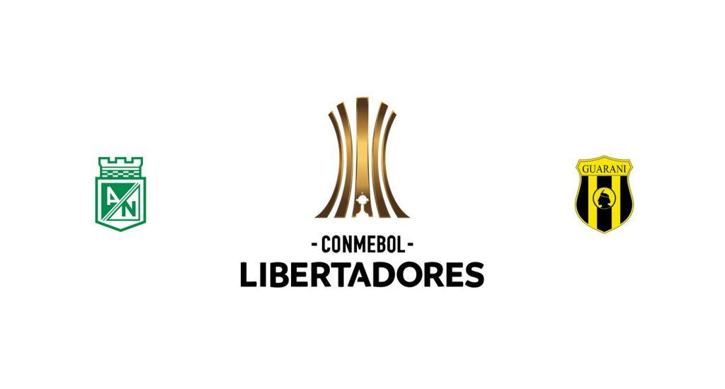 Atlético Nacional vs Guaraní Previa, Predicciones y Pronóstico