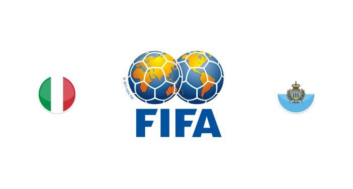 Italia vs San Marino Previa, Predicciones y Pronóstico