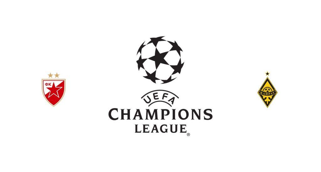 Estrella Roja vs Kairat Almaty Previa, Predicciones y Pronóstico
