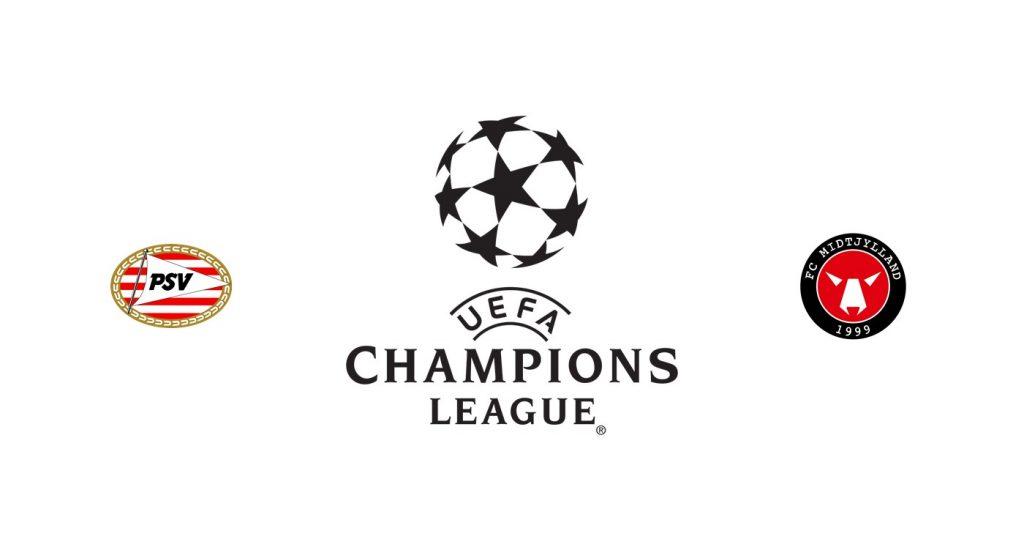 PSV vs Midtjylland Previa, Predicciones y Pronóstico