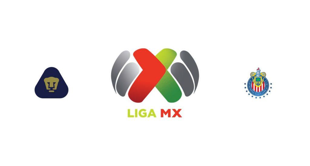 Pumas UNAM vs Chivas Previa, Predicciones y Pronóstico